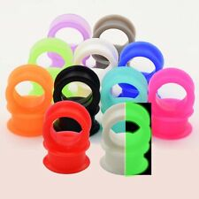 2PCS Soft Silicone Ear Skin Ear Plugs Expander Soft Flesh Tunnels Ear Piercing