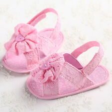Newborn to 18M Cute Flowers Girls Sandals Infant Toddler Baby Soft Sole Shoes