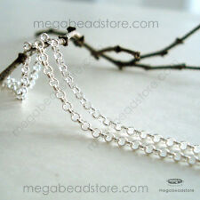 1.5mm Rolo Chain 925 STERLING SILVER Loose Chain CH75