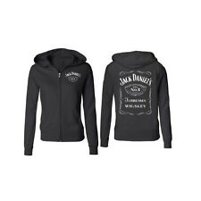 JACK DANIELS WHISKEY AUTHENTIC LADIES FULL ZIP SWEATSHIRT LYNCHBURG TENNESSEE