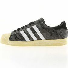 New Adidas Mens Originals Superstar 80s Snakeskin Grey White G95846 Size 13