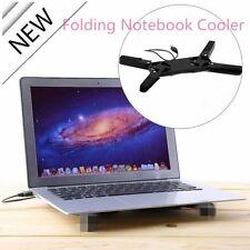 USB Foldable Folding Cool Cooler Cooling Fan Pad w/ 2 Fan for Laptop Notebook SN