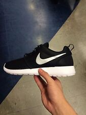 Women Nike Roshe Run 'Black White Metallic Platinum Silver' Free Thea 511882-094