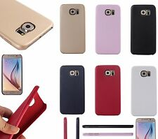 Ultra-Thin Leather Style Slim Gel Back Cover Case Skin for Samsung Galaxy S6