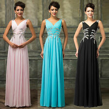 GRACE KARIN Bridesmaid Party Evening BALL Gown Wedding Long Prom Dresses UK 6-20