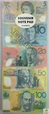 SOUVENIR NOTE PAD Children's Kids Toy Fake Pretend Play Australian Dollar Money