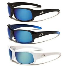 Arctic Blue Mirror Lens Mens Womens Sport Cycling Running Wrap Around Sunglasses