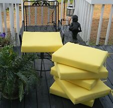 """Set of 6~18""""X17"""" Outdoor Universal Patio Chair Seat Cushion ~ Select Solid Color"""