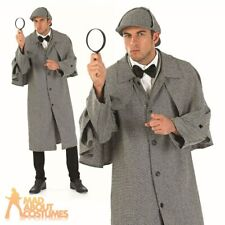 Sherlock Holmes Costume Mens Victorian Detective Fancy Dress Adult Outfit New