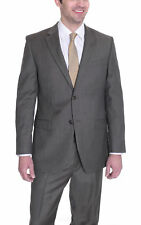 Donald Trump Classic Fit Taupe Textured Two Button Wool Suit