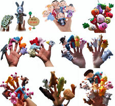 Family Finger Puppets Funny Doll Baby Educational Hand Toy Story Kid Party Games
