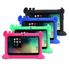 """8GB 7"""" Android 4.4 Quad Core A33 Tablet PC Kids Edition Bundle w' Gel Stand Case"""