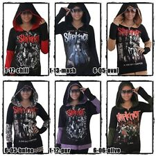 Slipknot Metal Rock Band DIY Funky Zip Up Hoodie Thumbhole Jacket Top Shirt