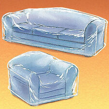 Clean Hard Plastic See-Thru Heavy Duty Clear Sofa Cover Living Room Furniture