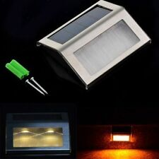 LED Solar Power Path Stair Outdoor Light Garden Yard Fence Wall Landscape Lamp