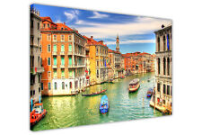 VENICE GRAND CANAL FRAMED CANVAS WALL ART PRINTS CITY PICTURES HOME DECORATION