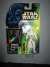STAR WARS POTF SNOWTROOPER Action Figure Green Card Hologram NEW IN PACKAGE