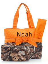 Personalized Mossy Oak Real Tree Camouflage Quilted 3Pcs Set Diaper Bag MONOGRAM