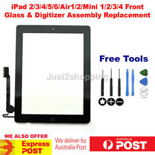 iPad 2/3/4/5/Air/Mini/1/2 Digitizer Front Touch Screen Glass Replacement+9Tools