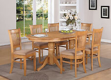 VANC7-OAK 7 PC dining room set Table with a Leaf and 6 Dining Chairs