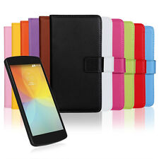 Magnetic Flip Genuine Leather Wallet Stand Phone Covers Cases For LG Optimus F60