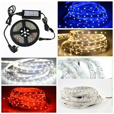 5M 16.4FT 3528 600 Led SMD Light Flexible Strip Lamp+DC Connector+12V 5A Power