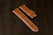 For PANERAI - Genuine Alligator Skin Straps for TANG BUCKLES 24/22mm - 5 Colors