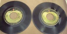 "BEATLES CANADA 2 SINGLES ""HEY JUDE + GET BACK"" APPLE 45s in SPIZER BOOK!!!!"