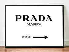 Prada Marfa poster 1837 MI gossip girl prints art fashion wall