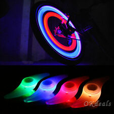 Multi-Color Bike Bicycle Cycling Car Wheel Tire Tyre LED Spoke Safety Light Lamp