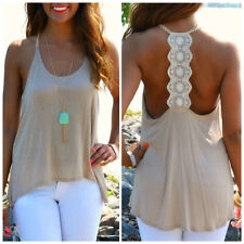 Women Summer Sexy Sleeveless Casual Loose Halter Tank Tops Vest Shirt Blouses