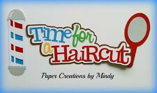 Craftecafe Mindy Haircut Title girl boy premade paper piecing scrapbook  page