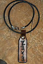 Anceint Paleo HEBREW YHWH Leather Necklace Jewish Hebrew Torah Messianic Name