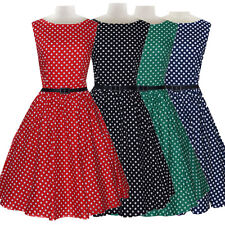 Vintage Rockabilly Polka Dot Retro 50s 60 Pinup Prom Cocktail Party Swing Dress