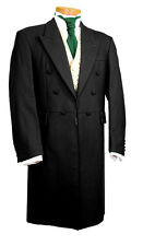 MENS MANS BOYS FROCK COAT BLACK WEDDING FANCY DRESS PROM STUNNING QUALITY