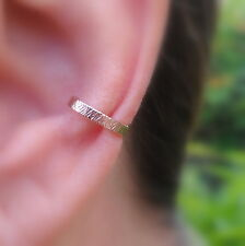 Fake Piercing Ear Cuff Conch Cuff Textured Hammered Rose Gold Filled 2mm Wide