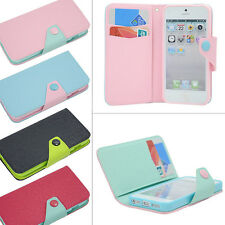Card Holder Flip Wallet Leather Case Cover TPU Pouch For Apple iPhone 5 5S 5C