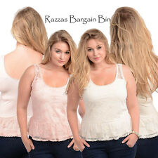 New Ladies Stunning Lace Singlet Top  Plus Size 14 & 18 (8279)CI