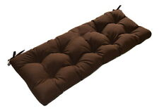 Solid Brown Tufted In - Outdoor Bench Swing Glider Cushion w/ ties, Select Size