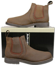 Mens New Brown Leather Chelsea Dealer Fashion Ankle Boots Size 6 7 8 9 10 11 12