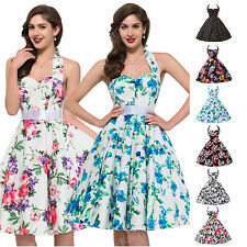 Vintage Retro Style 1950s Rockabilly Swing Pinup Housewife Cocktail Party Dress