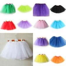 Lovely Girls Kids 3 Layer Tutu Ballet Dance Dress Skirt Pettiskirt Costume 2-7 Y