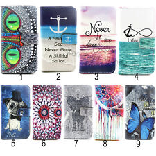 Magnetic PU Leather Card Holder Wallet Flip Case Cover For Apple/Samsung /Nokia