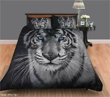 WHITE TIGER  Quilt / Doona Cover Set Single, Double, Queen or King Size NEW
