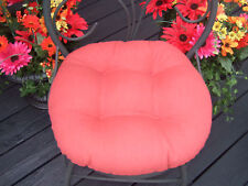 """INDOOR OUTDOOR ROUND BISTRO 18"""" CHAIR CUSHION - CHOICE SOLID COLORS"""
