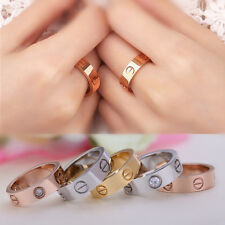 New Celebrity Screw Carved Love Band Titanium Stainless Steel Rings Wedding Gift