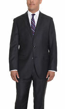 Vincenzi Slim Fit Solid Gray Two Button Wool Suit