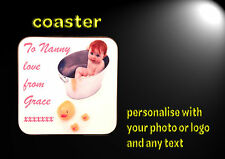tea/coffee mug coaster personalised with your photo, logo, image and text