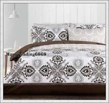 Geo Chocolate Latte White Fully Reversible * KING QUEEN QUILT DOONA COVER SET