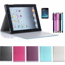 PU Leather Magnetic Wake/Sleep Stand Case Hard Cover For iPad 2 3rd 4th Gen US
